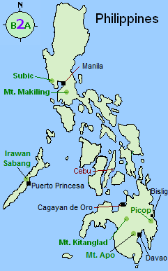 Philippines tour map