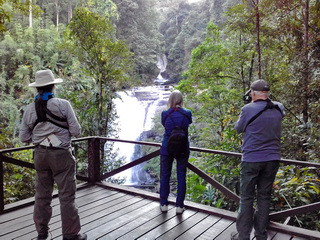 Birding group at Doi Inthanon waterfall